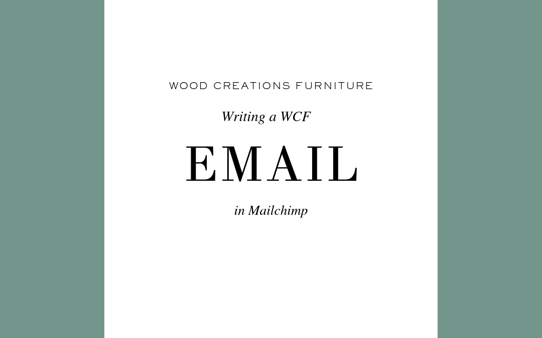 How to Write a WCF Email